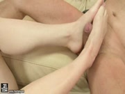 Lily LaBeau Getting Her Feet Full Of Cum